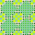 Geometric green seamless pattern Stock Images