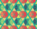 Geometric green yellow blue red color  pattern background Royalty Free Stock Photo