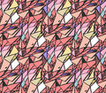 Geometric hand draw ink patterns colorful trend abstract mosaic backgrounds vector illustration in shades of pink Royalty Free Stock Photography