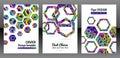 Geometric hexagon shape brochure background.