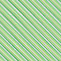 Geometric hipster pattern with diagonal lines green made of small organic shapes seamless vector texture for textile print Stock Image