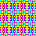 Geometric hipster pattern seamless colorful pastel Royalty Free Stock Photo