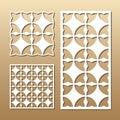 Geometric laser cut