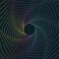 Geometric Line Art Background, Abstract Hexagonal Geometric Background