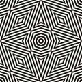 Modern abstract monochrome vector background. Black and white graphic texture with triangles, rhombuses, octagons, diagonal lines,