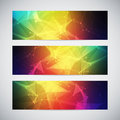 Geometric, lowpoly, abstract modern vector banners