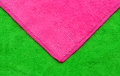 Geometric microfiber background pink and green of cloth Royalty Free Stock Photo