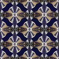 Geometric modern seamless pattern. Black vector geometry abstract background wallpaper with gold white silver vertical zigzag