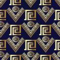 Geometric modern vector seamless pattern. Modern blue background