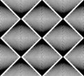 Geometric monochrome stripy seamless pattern, black and white ve Royalty Free Stock Photo