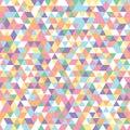 Geometric mosaic pattern triangles colorful pink blue white yellow purple orange