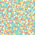 Geometric mosaic pattern yellow blue green white orange triangle