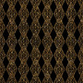 Geometric ornament gold seamless pattern. Modern art deco lace t Royalty Free Stock Photo