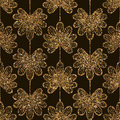 Geometric ornament gold seamless pattern. Modern art deco leaves Royalty Free Stock Photo