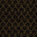 Geometric ornament gold seamless pattern. Modern art deco stylis Royalty Free Stock Photo