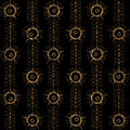 Geometric ornament gold seamless pattern. Modern art deco textur Royalty Free Stock Photo