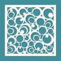 Geometric ornament template.