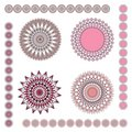 Geometric ornaments: pink Stock Photography