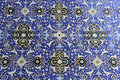 Geometric ornate tile on the wall of mosque in esfahan iran Royalty Free Stock Photography