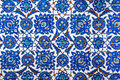 Geometric ottoman pattern tile detail from rustem pasa mosque eminonu istanbul turkey Stock Photography