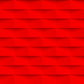 Geometric pattern background abstract red 3d vector brick wall texture Royalty Free Stock Photo
