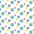 Color geometric four shapes pattern background.