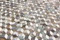 Geometric pattern floor in ancient Pompeii, Italy Royalty Free Stock Photo