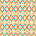Geometric pattern with rhombus seamless yellow and blue Royalty Free Stock Images