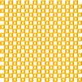 Geometric pattern, seamless square simple background texture 3d orange isometric box Royalty Free Stock Photo