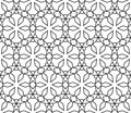 Geometric pattern seamless tilling for wallpaper or background line art style Royalty Free Stock Photo