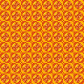 Geometric pattern seamless vector abstract of yellow and orange shapes Stock Photography