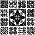 Geometric pattern set Stock Photo