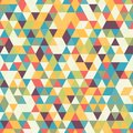 Riangle Seamless Background with Triangle Shapes of Different colors.
