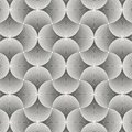 Geometric pattern vector. Geometric simple fashion fabric print. Vector repeating tile texture. Overlapping circles funky theme or Royalty Free Stock Photo