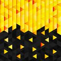 Geometric pattern from yellow orange triangle mosaic texture abstract background illustration Stock Image
