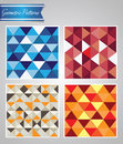 Geometric patterns modern colored triangular Stock Photo