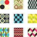 Geometric Patterns Set 1 Stock Photography