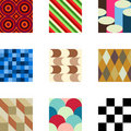 Geometric Patterns Set 2 Royalty Free Stock Images