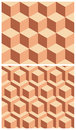 Geometric patterns two seamless Stock Photography