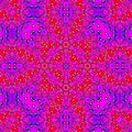 Geometric pink and violet gaudy Cross Flower Pattern carpet or rug ornament Royalty Free Stock Photo