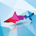 Geometric polygonal shark, pattern design Royalty Free Stock Photo