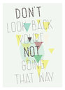 Geometric poster don t look back you re not going motivational quote on gray background with chaotic figures Royalty Free Stock Photos