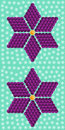 Geometric purple flower consisting of isometric cubes