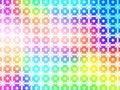 Geometric Rainbow Background W...