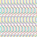 Geometric retro chevron shape seamless pattern. All over print vector background. Summer 1950s arrow stripe fashion style