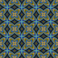 Geometric Retro Wallpaper Seamless Pattern Stock Photography