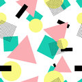 Geometric s fashion style seamless pattern postmodern background vector graphics eps Royalty Free Stock Photo