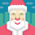 Geometric santa claus in vector format for different designed works Stock Photography