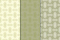 Geometric seamless background. Olive green wallpaper with oval elements