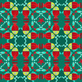 Geometric seamless fish pattern with star and water bubbles Stock Images